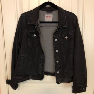 Mossimo faded black denim jacket
